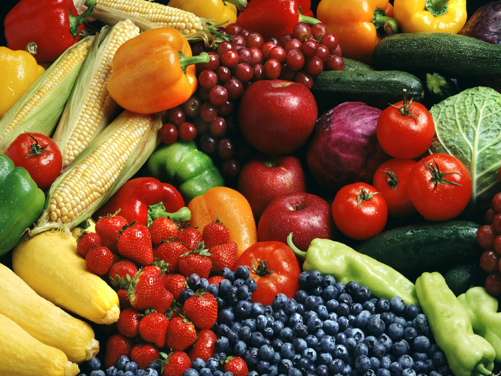 raw fruits and vegetable for the Standard Process Cleanse