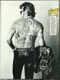 Brian Setzer Is The Definition Of Cool With His Sky High Pompadour And Punk Style I Mean Look At These Tattoos