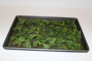 Roasting kale