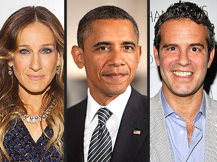 SJP Obama and Andy Cohen
