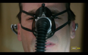 Don Draper gas mask