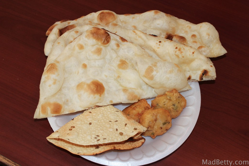 Naan, Papadam and Pakora