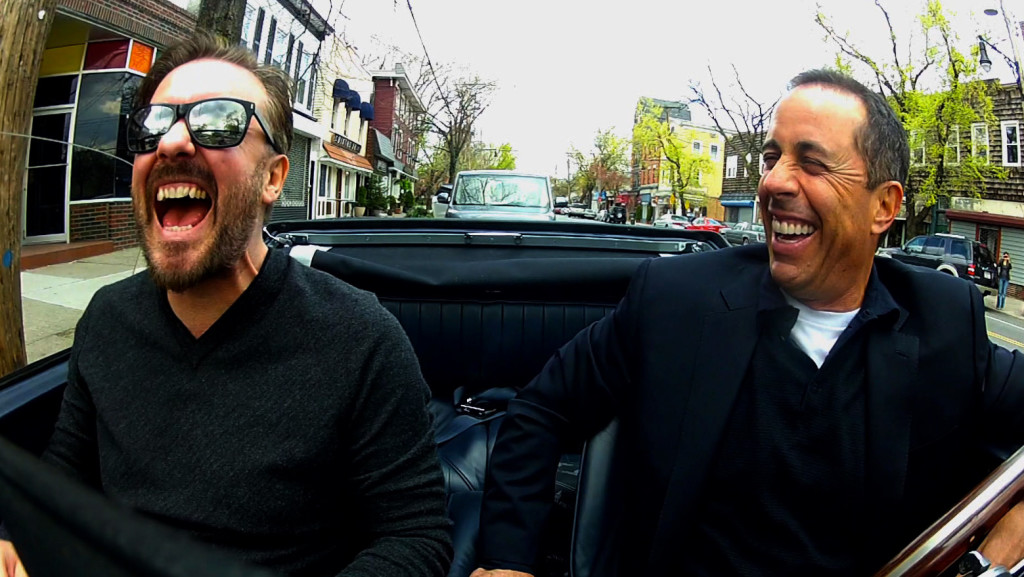 Ricky Gervais and Jerry Seinfeld in Comedians in Cars Getting Coffee