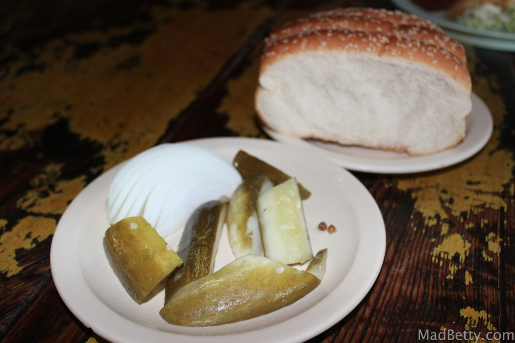 Pickles and bread
