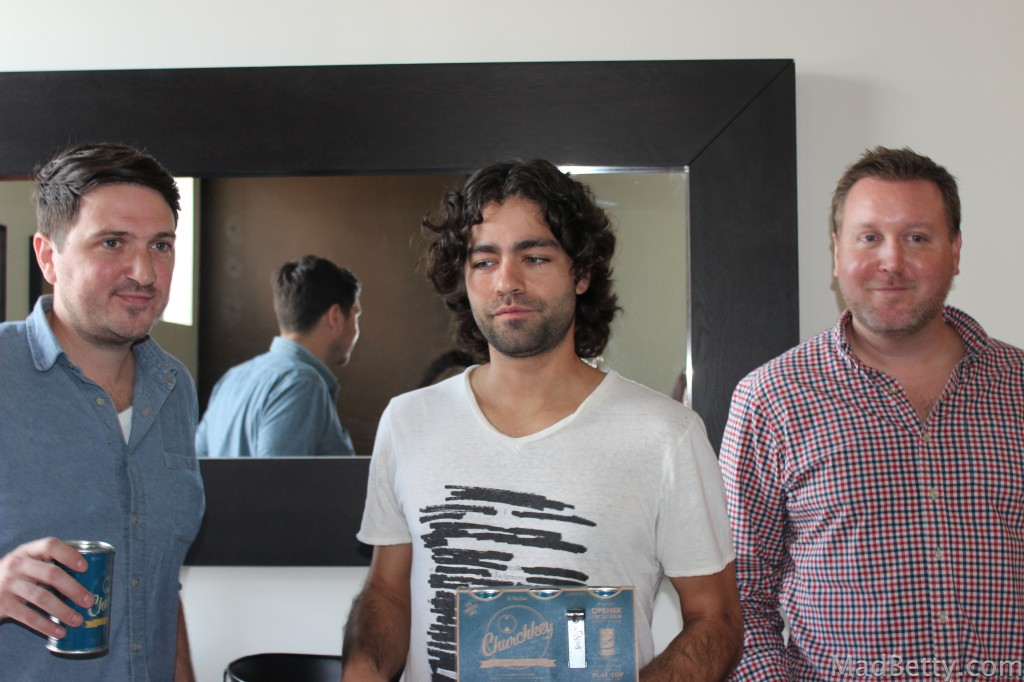 Justin Hawkins, Adrian Grenier, and Chad Reed