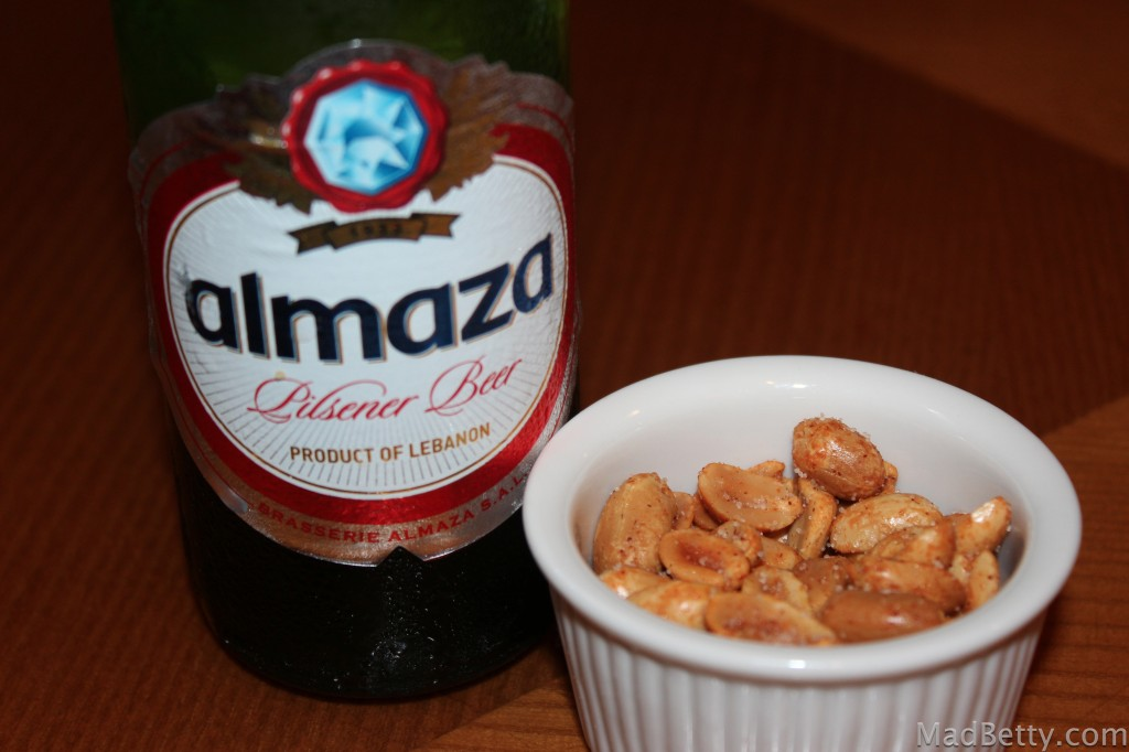 Almaza and peanuts