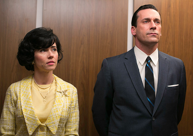 Silvia and Don from Mad Men
