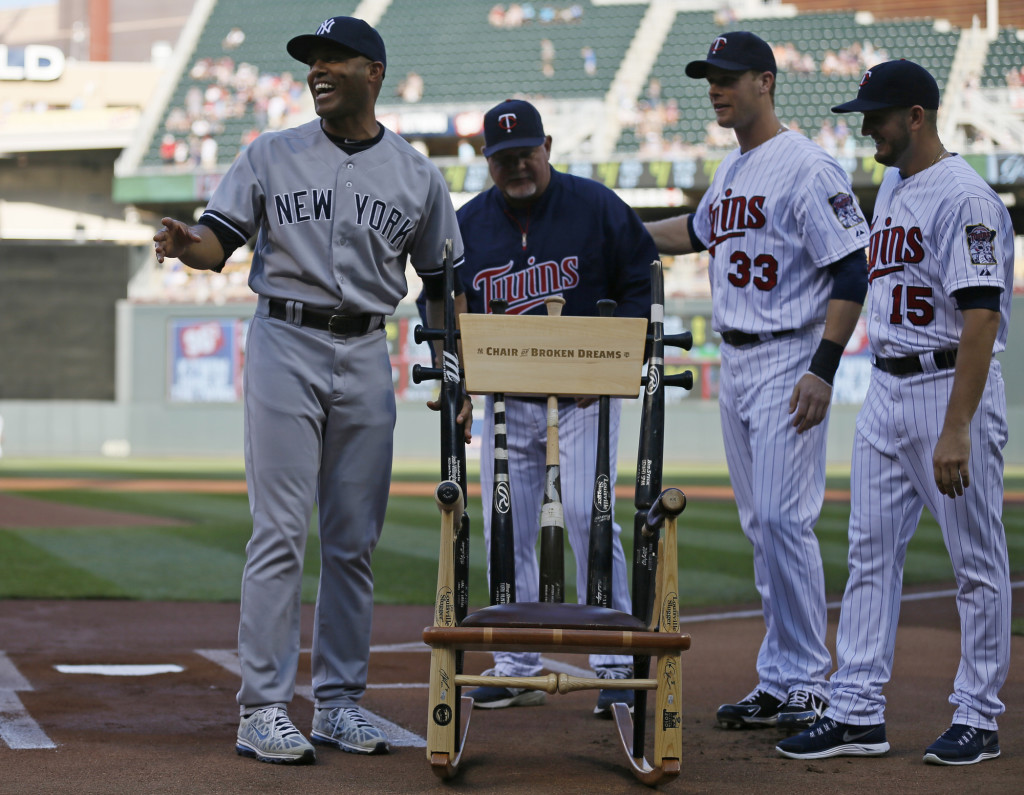 Mariano Rivera shattered bats chair