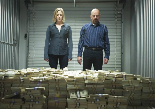 Breaking Bad Walt and Skyler money