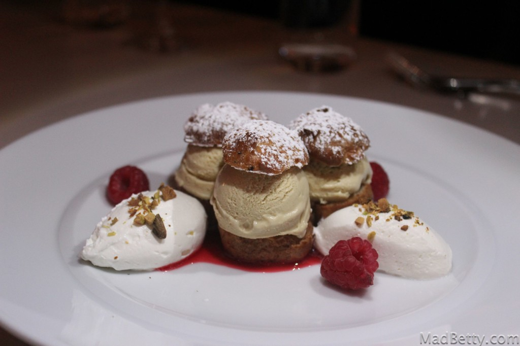Rosewater Profiteroles at Arro Austin Texas