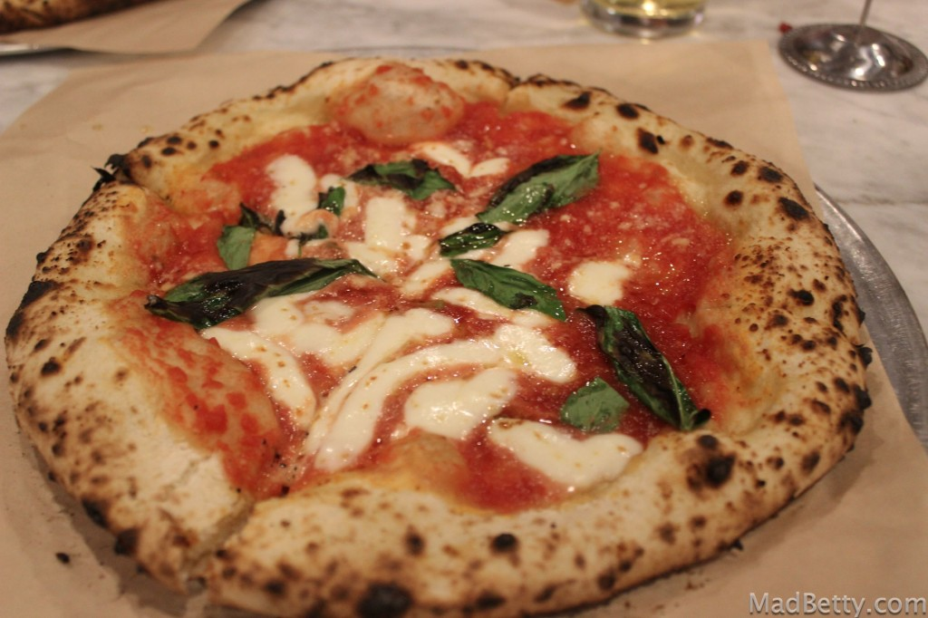Margherita Pizza at Pieous Austin Texas