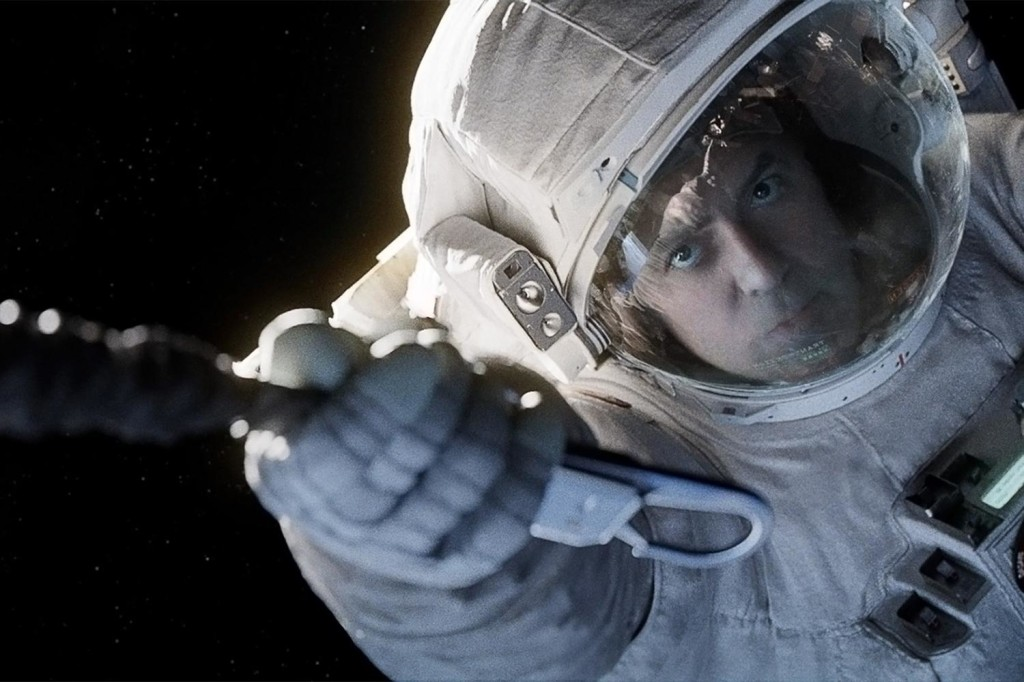 Gravity movie George Clooney in space