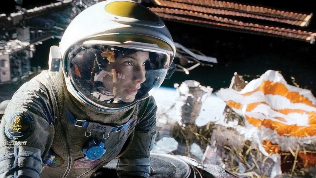 Gravity movie Sandra Bullock in space