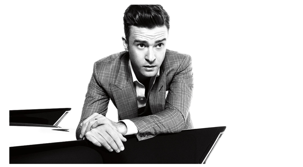 Justin Timberlake black and white photo
