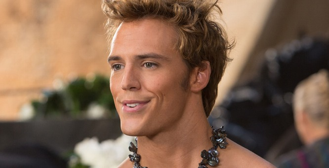 Sam Claflin as Finnick Odair in Hunger Games: Catching Fire