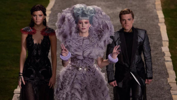 Elizabeth Banks as Effie Trinket in Hunger Games: Catching Fire