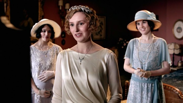 Edith's wedding on Downton Abbey