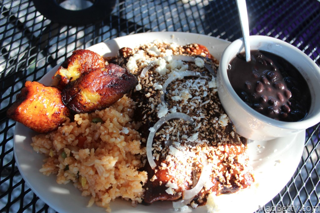 Chicken Enchiladas with Mole at Veracruz All Natural