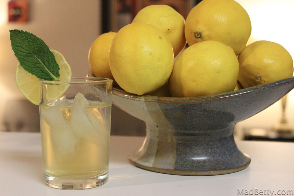 Moscow Mule with Meyer lemons