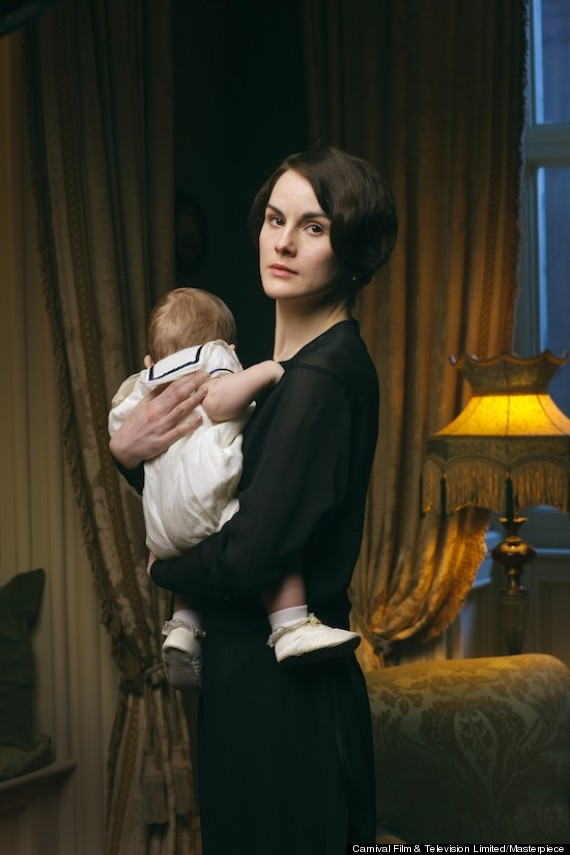 Mary and Baby George on Downton Abbey