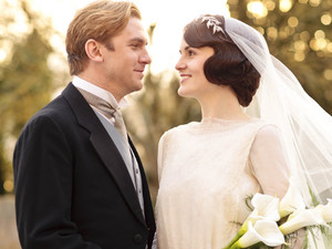 Mary and Matthew wedding on Downton Abbey