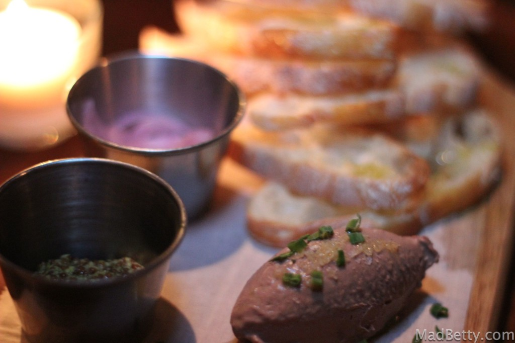 Chicken Liver Mousse at Winebelly, Austin Texas