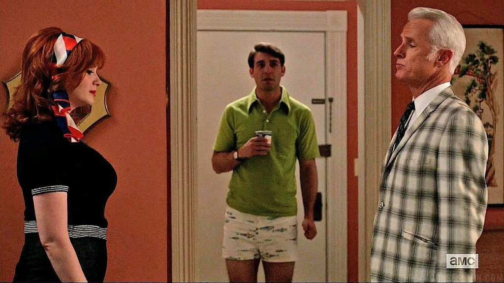 Joan, Roger, and Bob Benson on Mad Men