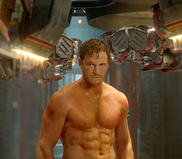 Peter Quill, Star-Lord, played by Chris Pratt in Guardians of the Galaxy
