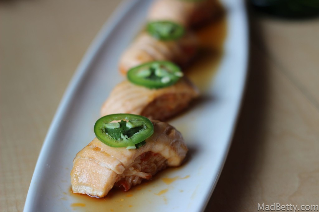 Salmon Rockets at Roll on Sushi Diner, Austin, Texas