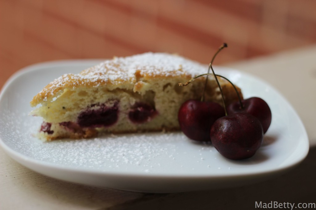 Cherry Almond Tea Cake