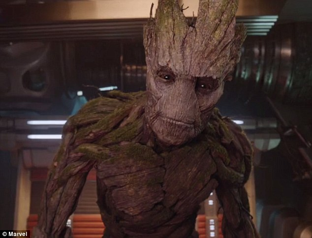 Groot voiced by Vin Diesel in Guardians of the Galaxy