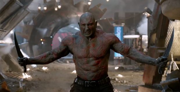 Drax played by Dave Bautista in Guardians of the Galaxy