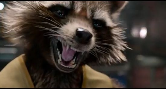 Rocket, voiced by Bradley Cooper in Guardians of the Galaxy