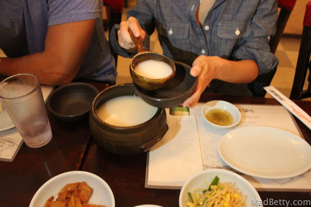 Makgeolli at Together Restaurant, Austin Texas