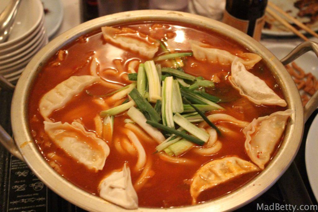 Kimchi Dumpling Soup at Together Restaurant, Austin Texas