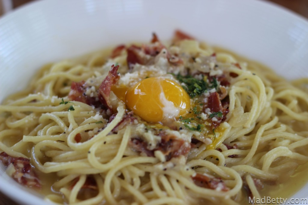 Spaghetti Alla Carbonara at Winflo Osteria, Austin Texas