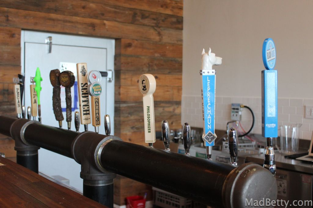 Beer taps at Stouthaus Coffee Pub, Austin Texas