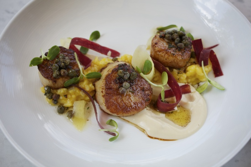 Pan Seared Diver Scallops at Bess Bistro, Austin Texas