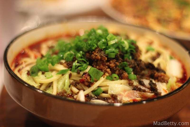 Dan Dan Noodles at Sichuan House, Austin Texas