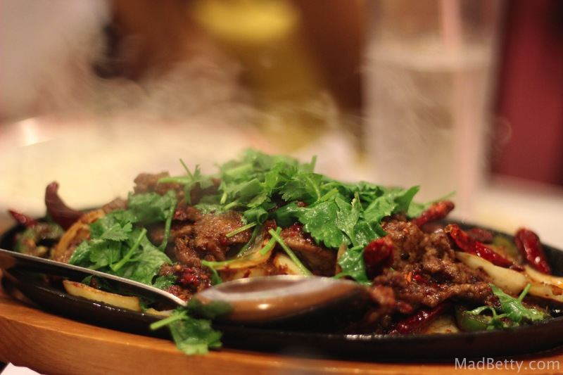 Sizzling Lamb at Sichuan House, Austin Texas