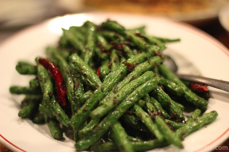 Dry Fried Green Beans at Sichuan River, Austin Texas