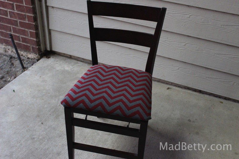 How to reupholster a chair, finished project
