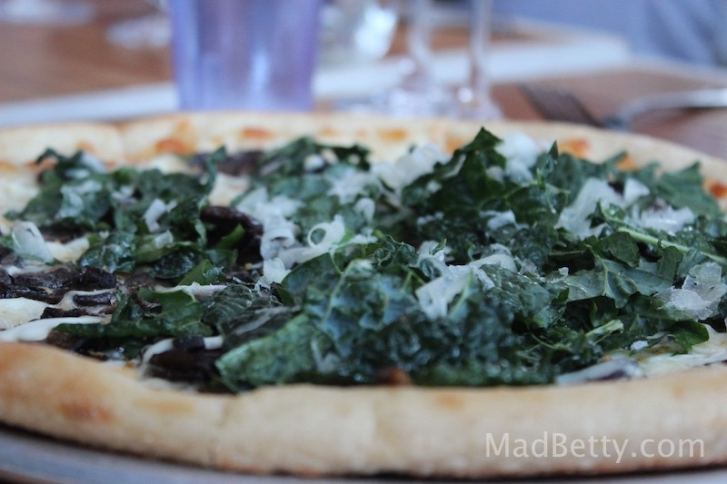 Kale Pizza at St. Philip, Austin Texas