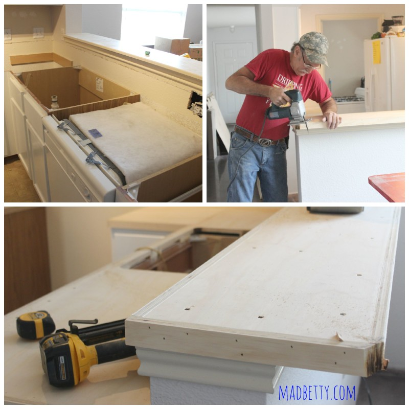 Installing laminate countertop with Austin Laminate Countertops
