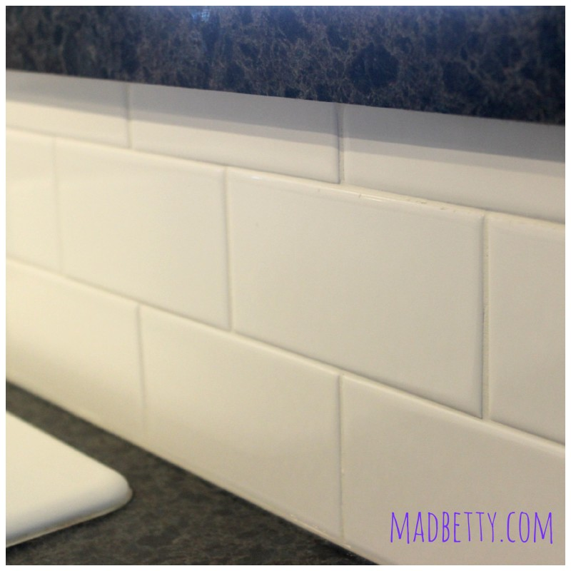 Bright white subway tile