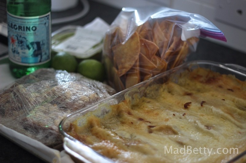 Enchiladas, Chips and Guacamole, Salted Caramel Bars