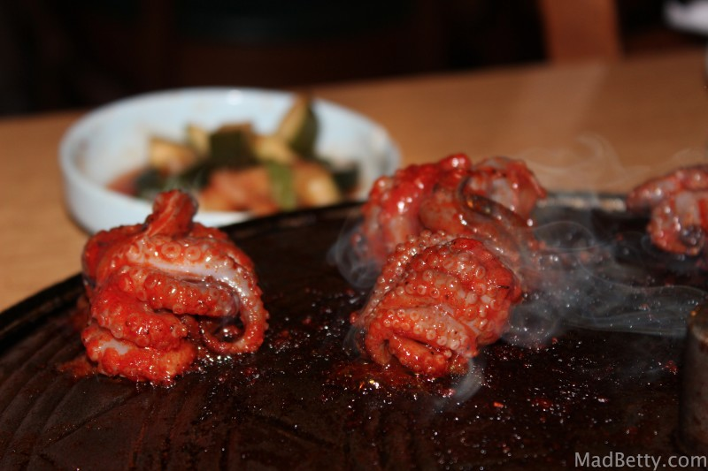 Octopus at Korea House, Austin Texas