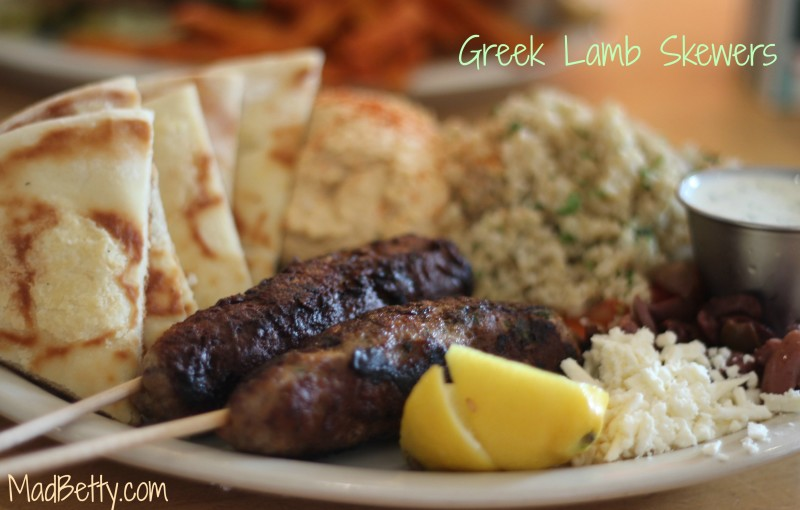 Greek Lamb Skewers, Kerbey Lane, Austin Texas